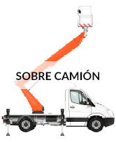 Alquiler de plataformas sobre camión